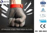 Stainless Steel PPE Safety Gloves , Protective Cutting Gloves Mesh Convenient Cleaning