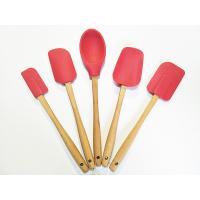 4 Piece Spatula Set - Colorful Silicone Rubber Baking Spatulas Nonstick BPA Free Dishwasher Safe