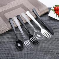 Wholesale disposable spoon fork and knife plastic cutlery set