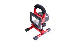 China Red 50W Outdoor Rechargeable LED Floodlight 6000K 12V / 24V With 4pcs Li-ion Battery on sale