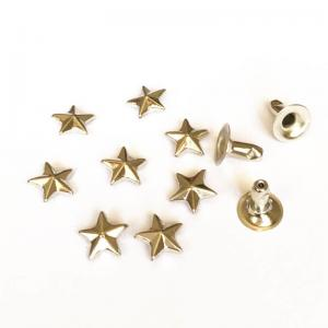 China 8mm Silver Star Rivets for Leathercrafts; Metal Star Button Rivets; Silver Jean Star Rivets; Brass Star Rivets on sale