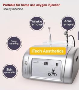 China 2 In 1 Portable Oxygen Facial Machine Salon Use Jet Peel Beauty Machine 99% Pure Oxygen For Acne Removal on sale