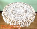 80cm Round cotton crochet tablecloth, Tablemat, Corcheted Lace Table linen, Tablecloth
