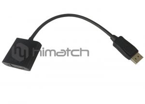 China High Definition Displayport 1.2 To VGA Cable Male To Female 1080P DP Video Cable on sale