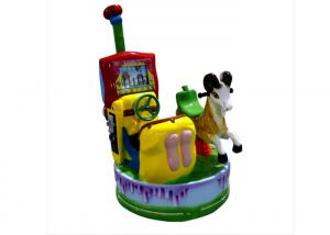 China Fiberglass Two Person Coin Operated Kiddie Rides With Screen Horse Ride on sale