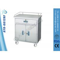 Moveable Medical SS Anesthesia Instrument Medical Trolleys With Cabinet