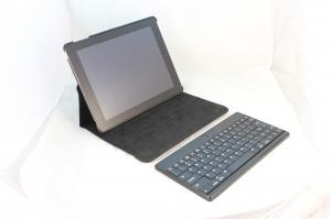 China Blue / Orange Rotatable Removable Apple Ipad Case with Bluetooth Keyboard for New Ipad 3 on sale
