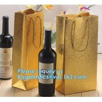 Printed Luxury Wide Base Brown Kraft Paper Carrier Bag,coating black luxury paper carrier bag for printing with ribbon