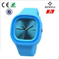 Promotional Gift Blue Rubber Silicone Jelly Watch For Children / Kids