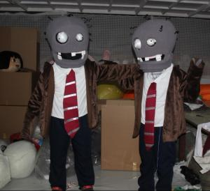 Quality custom adult plush zombie mascot costumes for entertainment for sale