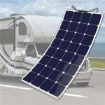 Flexible Solar Panel Semi flexibility 5 Watt to 360 Watt size Customized For Golf Cart RV Motorhome Marine Boat