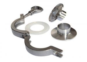 China Sanitary Stainless Steel Tri Clamp Fittings With Ferrules Gasket Pipe Fitting on sale