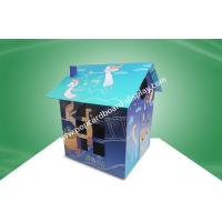 China Recyclable Children's Cardboard Playhouse / Cardboard Coloring House For Kid's Products With UV Coating on sale