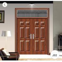 J02 Zinc Alloy Steel Twin Doors / Residential Steel Security Doors