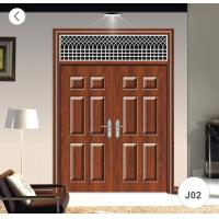 China Residential Steel Security Doors / J02 Zinc Alloy Steel Twin Doors on sale