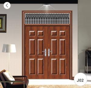 China J02 Zinc Alloy Steel Twin Doors / Residential Steel Security Doors on sale