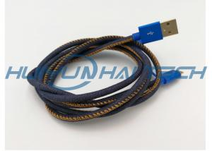 China High End Mfi Jean Cloth Heat Resistant Wire Sleeve For Denim Usb Cable Harness on sale