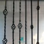 Handrail post Single Knuckle iron balusters  iron hollow tube square Metal Fence Posts satin black