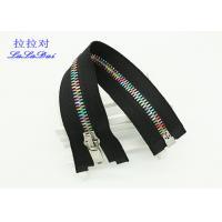 Brass 12 Inch Metal Separating Zipper Standard Ykk Type Teeth For Sweaters