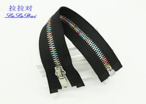 China Brass 12 Inch Metal Separating Zipper Standard Ykk Type Teeth For Sweaters on sale
