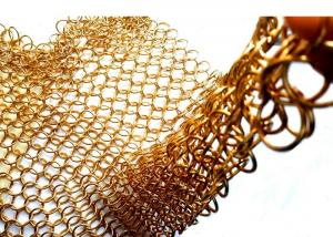 China 1.2X10MM Fireplace Mesh Curtain , Metal Mesh Curtain Panels For Space Divider on sale