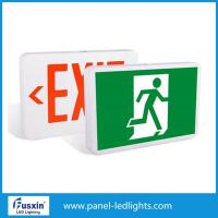 Emergency Exit Lamps Led Emergency Light Rechargeable Rigid Aluminum Housing Material