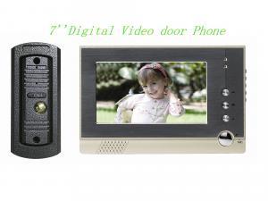 China 極めて薄い7つはLCDカラー ビデオDoorphone/7」色白いLEDライトが付いているビデオ ドアの電話をワイヤーで縛りました on sale