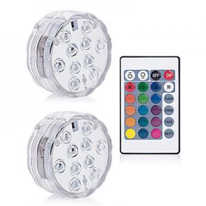 China Rgb Submersible LED Lights Remote Controlled Bowl Shape 10 LEDs Type on sale