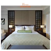 OEM Hotel Bedroom Furniture , Single King Size Bed with Side Table and Chair
