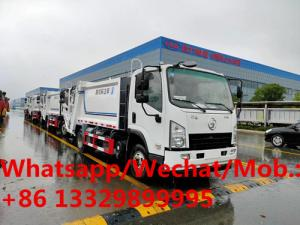 China Customized SHACMAN 4*2 LHD 6CBM compactor garbage truck for sale, good price new shacman 4-5tons garbage compactor truck on sale