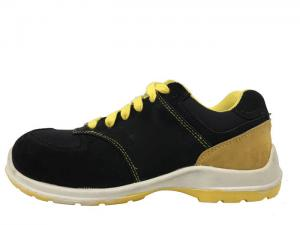 China Office Worker Non Slip Work Shoes Tearing Tested Synthetic Leather Tongue Binding on sale