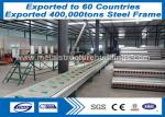 Long Span Sandwich Panels Prefabricated Steel Structures Two Story Advancedly Cut