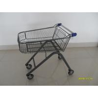 China Black Steel Shopping Cart Metal Tube Base Fame With Anti UV Handle Cap on sale