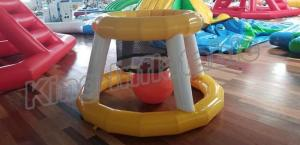 China Funny Airtight Floating Inflatable Basketball Water Game Toys For Amusement Park on sale
