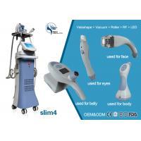 China 4 treatment handles vacuum +Velashape+Roller+ RF+ LED system competitive vacuum butt lifting liposuction machine price on sale