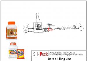 China Industrial Bottle Filling Line / Washing Powder Filling Line With Servo Motor And Touch Screen on sale