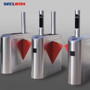 China Face Recognition Pedestrian Control Electronic Flap Barrier Gate/ Acrylic Counter Turnstiles on sale