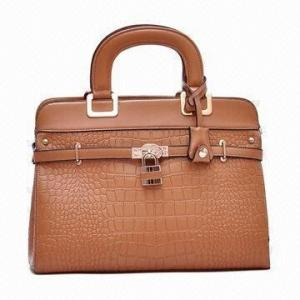 China Formal Women Real Leather Tote Ladies Leather Briefcase For Office Meeting on sale