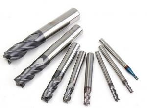 China 2-12 mm Carbide Square End Mill 4 Flutes Tungsten Steel Milling Cutter CNC Tools Set on sale