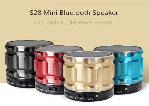 China S28 Metal Mini Bluetooth Speaker Portable Wireless Stereo Subwoofer Steel Loudspeaker With Mic FM Radio TF Card Slot AUX on sale
