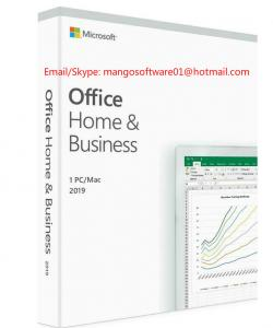 China Microsoft Office 2019 Home And Business medialess Product Key office 2019 HB For Windows / MAC on sale