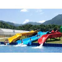 Commercial Above Ground Pool Slide Fiberglass Aqua Funny Equipment