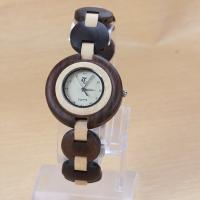 China Eco - friendly ladies maple wood bracelet watch waterproof , Japanese movement on sale