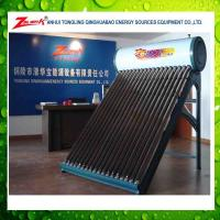 China Aluminum Zinc Steel Compact Evacuated Tube Solar Water Heater on sale