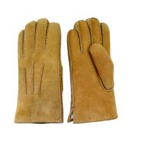 Men Genuine leather Lamb Fur Cheap custom made leather gloves