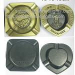 Personalized casted branding engraved metal ashtray selection, metal cigar ash tray,