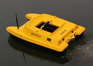 China Yellow rc fishing bait boat remote frequency 2.4G two engines Structure DEVC-303 on sale