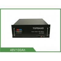 China 1U 2U 3U UPS Battery LiFePO4 Battery Pack ,  Ups LFP Rechargeable Batteries 48V 100Ah on sale