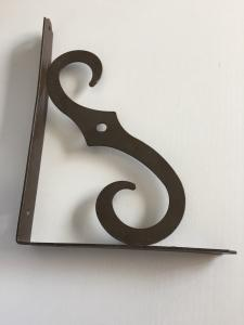China Black Brown Designer Cast Iron Wall Brackets Room Wall Support Steel Reinforced on sale