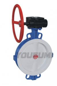 China gear operated valve double flange butterfly valve on sale